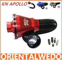 air filter system - KN APOLLO Closed Intake System Air Intake Filter Blue red black Silver top sale