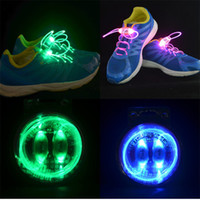 LED Shoelace fiber optic lighting - Newest th Gen Fiber Optic LED Shoe Laces Shoelace Platube Neon Strong Light Up Flashing Shoelaces with retail packaging CW0121