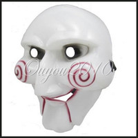 Wholesale Halloween Saw Masquerade Horror Scary Ghost Devil Mask Party Cosplay Costume New
