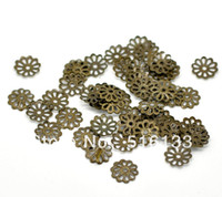 Wholesale Antique Bronze Flower End Bead Caps Findings mm For Jewelry Findings