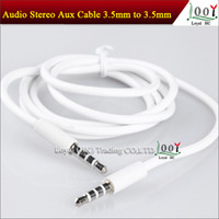 Wholesale 3 mm Male to Male AUX Stereo Audio Vidio Vedio Cable for FM MP3 Speaker iPod ipad iPhone s G S C M