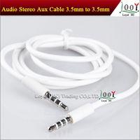 3.5mm mâle à mâle Audio stéréo AUX Câble de Vidio Vedio pour le haut-parleur de MP3 de FM iPod 4 4s 5G 5 5S 5C 1M