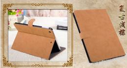 Air en cuir libre en Ligne-Retro en cuir Smart cas couvrir pour iPad Air 5 iPad 2 3 4 iPad Mini Mini 2 avec support stand dormir Wake UP livraison gratuite
