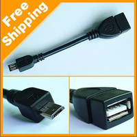 For Samsung   Wholesale - 1000PCS High Quality USB Host Mode Micro OTG Cable for sumsung table pc i9100 i9220 Galaxy S2 DHL FEDEX free