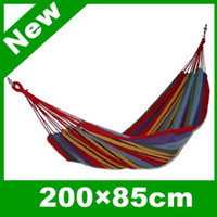 Wholesale New Arrival Color Canvas Hammock Hang Sleeping Bed for Outdoor Camping Travel Hammock SP55