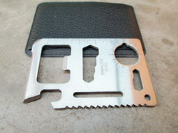 Wholesale X100 Survival Outdoor Camping Tool Multi function credit card Knife in1 Saw Opener