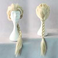Wholesale Disney Movies Frozen Snow Queen Elsa Weaving Braid Cosplay Wig Frozen most popular cartoon girl Elsa Hair Wig