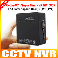 Wholesale Super H CH Home Security Mini Portable HD P P2P Network Video Recorder NVR G Wifi Onvif Audio Input Multiple languages