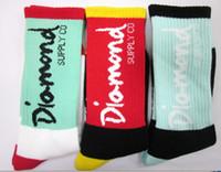 Men mens socks - 2014 Hotest Diamond socks thick Sock Socks for Men and Women colorful Long Mens socks Brand Cotton sock pairs Supernova sale