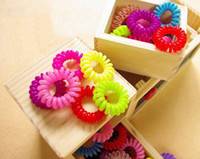 Pony Tails Holder Asian & East Indian Women's Wholesale -500pcs Lot Cheapest Hot Candy Colored Telephone Line Elastic Hair Bands Hair ties Hair ring Hair Accessories