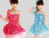 Wholesale June Children s Day Children s Perform Clothing Girl Stage Dance Dress Kid s Latin Dancewear GX176