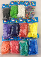 8-11 Years Multicolor Plastic Colorful Rainbow Loom kit Rubber band loom Bands bracelet amazing gift for children single colors handmade DIY 300pcs bands+12 pcs S