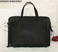 Wholesale 40CM man s bag high quality name brands bag Fashion genuine leather men handbags famous brand briefcases laptop bag