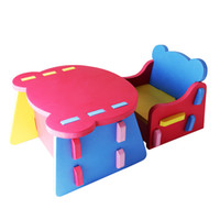 Wholesale Middlebury baby eva plastic small tables and chairs child patchwork small tables and chairs set eco friendly