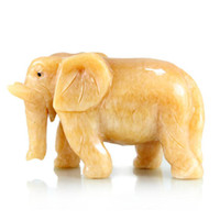 Bamboo & Wooden animal living room Polygonatum Large yellow elephant jade crafts decoration home decoration gift