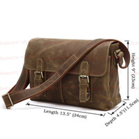 crazy horse leather - Hot Sale New Crazy Horse Leather Business Briefcase Messenger Bag