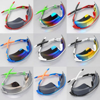PC Sports Wrap Wholesale -Fashion Outdoor Men and women Sport Sunglasses Riding Glasses Outdoor Sport Parkour Trend Mirrors cycling Eyewear 10pcs lot