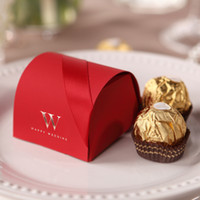 Wholesale Elegant Red Small Gift Boxes Paper Red New Creative High End Free Shiping Wedding Candy Bags