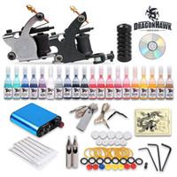 Wholesale Professional Complete Tattoo Kits Tattoo Guns Machines Tattoo Ink Set Tattoo Needles Tattoo Power Supply Tattoo Supplies DHL