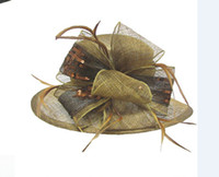 Wholesale 2014 fashion womens sinamay hat crazy wedding hats church hats