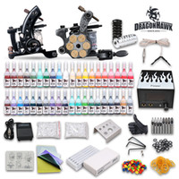 Wholesale USA Dispatch Professional complete cheap tattoo kits guns machines ink sets equipment power supply D238 DH