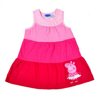 TuTu Summer A-Line 7 sets lot 2014 New Arrival Baby Girls Summer Dress Peppa Pig Cartoon Pink One-piece Dresses Children's Fashion Clothes