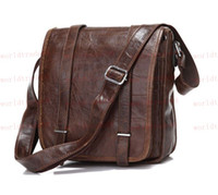 Wholesale Cool Office Real Vintage Cow Leather Unisex Cross Body Bag Messenger Shoulder bag