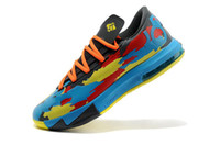 Mid Cut Men Mesh Best seller mens sports shoes KD 6 basketball shoes multiple colorway lockdown support air cushioning system superior comfort