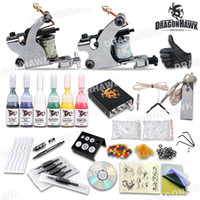 tattoo kits 5 guns - Complete Tattoo Kits Tattoo Machines Guns Colors Tattoo Inks Sets Tattoo Needles Tattoo Power Supply Beginner Tattoo Kits DHL Shipping