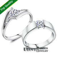 Wholesale Hot Sale Price for Wedding Couple Ring Sterling Silver Silver Engagement Rings Zircon CZ Crystal Size Weight g