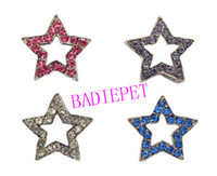 Wholesale Fashion Crystal Star Dog Collar Slide Charm DIY Dog Cat Pet Collar Slide Charm Pet Accessory Pet Fashion Pet Jewelry Pet Product