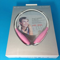 For Apple iPhone Bluetooth Headset  Bluetooth Stereo headset earphone headphone sport headphone Hands free For LG iPhone Samsung HB 800 also colorful HBS 700 730 740 in stock