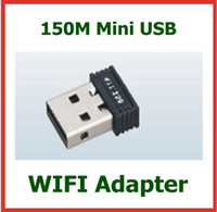Wholesale 200pcs M Mini USB WIFI Wireless N Adapter IEEE n g b LAN Network Networking Card for Computer WIFI Adapter DHL