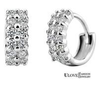 diamond earrings - XS Sterling Silver Earrings for Women Crystal Vintage Jewelry New Simulated Zircon Full Diamonds Earrings Ulove