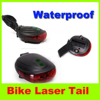 Wholesale 2014 new Mountain Bike Laser Tail Light Outdoor gear travel waterproof Cycling Safety Caution Lamp Simple operation High quality L