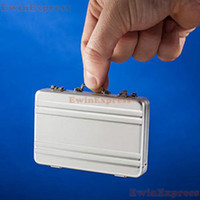 Wholesale Sil Aluminium Credit Card Holder Mini Briefcase Business Card Case Coin Case
