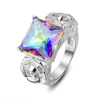 stone ring Jewelry 925 silver romantic mystic topaz friendsh...