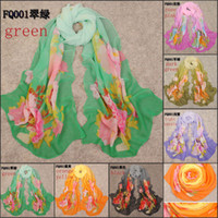 Wholesale 2014 new chiffon scarves fashion shawls scarves women beach towel foulard imitated silk fabric scarf for sale FQ001