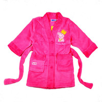 Wholesale 7 Baby Girls Bathrobes Peppa Pig Designer Rose Dressing Gown Children For T Kids Girls With Pocket In Stock Items