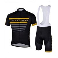 Wholesale 2013 Livestrong Pro Men s Summer Cycling Jersey Sets Bicycle Clothes Bicycle Wear Bike Short Sleeve Jersey Bib Shorts Black