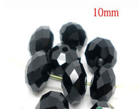 Wholesale black color Cut amp Faceted Glass Beads Spacer Beads mm