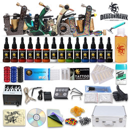 Wholesale Complete Tattoo Starter Kits gun machines Inks sets disposable tattoo needels arrive within days DIY DH