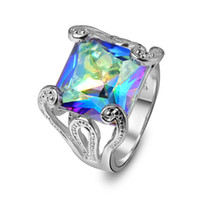 Colorful Natural Mystic Topaz Rings Accessories Rings For Th...