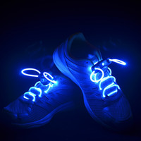 fiber optic lighting - LED Flashing Shoelace Light up Flash Glowing Shoe Laces Laser Shoelaces Fiber Optic Shoelace with Retail Packaging pair CW0111