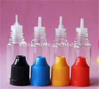 Cheap Colorful Plastic Dropper Bottles Proof Caps Tips Safe LDPE E Vapor Cig Liquid E-Cigarette E Juice Bottle 5 10 15 20 30ml Needle Bottle