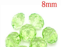 Wholesale green color Cut amp Faceted Glass Beads Spacer Beads mm