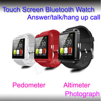 smart watches with Pedometer apple remote speakers - U8 Bluetooth SmartWatch Fashion boy girl Sync Phonebook MIC Speaker G sensor pedometer Alarm Stopwatch Thermometer support Touch Screen