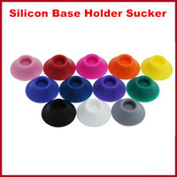 Colorful eGo battery base silicone sucker for holding ego ba...