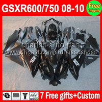 For Suzuki gsxr 600 fairing - 7gifts ALL Black For SUZUKI GSXR600 GSXR750 GSXR C L127 Gloss black GSX R600 R750 K8 Fairing On sale