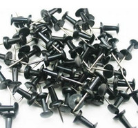 Wholesale Freeshipping Black Officemate Push Pins Plastic Top Thumbtacks Thumb Tacks Map Pin Stickers Pushpin
